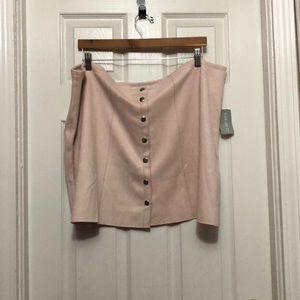 Pink Snap Skirt